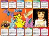 Calendário 2018 Horizontal do Pokémon