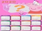 Calendário 2020 Peppa Pig Montar Foto Online
