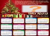 Montagem de Fotos Calendário 2021 Frase Feliz Natal
