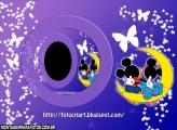 Casal Mickey e Minni e Lua