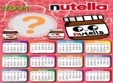 Calendário 2021 Nutella com Foto Montagem