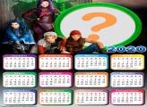 Moldura Online Calendário 2020 Descendentes