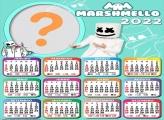 Calendário 2022 Marshmello Foto Moldura