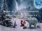 Família feliz no Natal mensagem