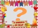 Barraca do Beijo Festa Junina Foto Moldura