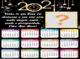 Calendário 2021 Feliz Ano Novo Tenha Fé em Deus