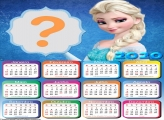 Foto Moldura Calendário 2020 Elsa Frozen