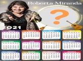 Calendário 2021 Roberta Miranda Montar Foto