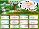 Montagem Calendário 2020 Dálmatas Moldura