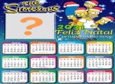 Calendário 2021 Os Simpsons de Natal Foto Moldura