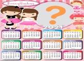 Calendário 2021 Bonequinhas para Meninas