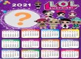 Colagem de Foto Calendário 2021 LOL Surprise