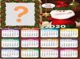Calendário 2020 Boneco de Papai Noel