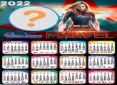 Colar Foto Calendário 2022 Capitã Marvel