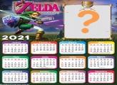 Calendário 2021 Online Zelda Montagem de Foto