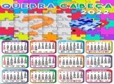 Calendário 2022 Quebra Cabeça Virtual Online