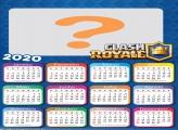 Calendário 2020 Tema Clash Royale Jogo