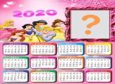 Calendário 2020 das Princesas Infantil