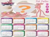 Calendário 2020 Pantera Cor de Rosa Foto Moldura