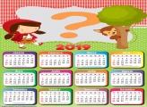 Calendário 2019 Chapeuzinho Vermelho Cute