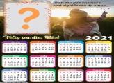 Calendário 2021 Gratidão Dia das Mães Colagem