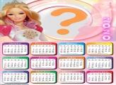Montagem Calendário 2020 da Barbie