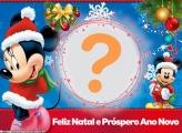 Minnie e Mickey Feliz Natal e Próspero Ano Novo