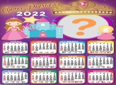 Calendário 2022 Coroa de Princesa Foto Colagem