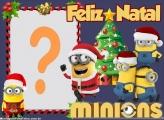 Minions Feliz Natal Foto Moldura Grátis