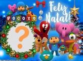 Feliz Natal Pocoyo Personalizado Moldura