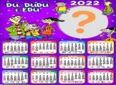 Montar Grátis Calendário 2022 Du Dudu e Edu