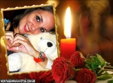 Velas dos Namorados Moldura