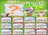 Calendário 2022 Moldura Online Koala