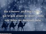 Que o menino Jesus se a estrela