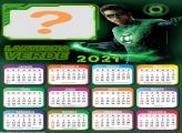 Calendário 2021 Lanterna Verde Montagem de Fotos