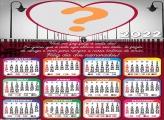 Calendário 2022 Mensagem Dia dos Namorados
