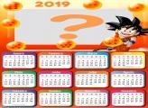Calendário 2019 Goku Dragon Ball