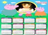 Calendário 2018 Peppa Pig Família