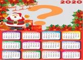 Calendário 2020 Feliz Natal Montar Foto Online