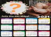 Calendário 2021 Mãe Hoje é Seu Dia Fazer Montagem