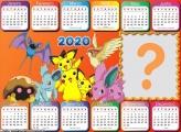 Calendário 2020 do Pokémon Horizontal