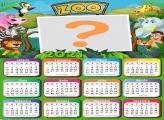 Calendário 2021 Zoológico Tema Infantil