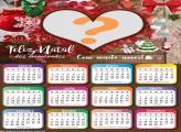 Calendário 2020 Feliz Natal para Namorados