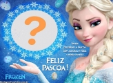 Moldura Páscoa da Princesa Elsa Frozen