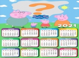 Imprimir Calendário 2021 Peppa Pig Família