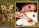 Tigre Selvagem na Selva Moldura