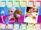 Calendário 2017 Elsa e Anna Frozen Horizontal