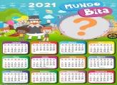 Montagens de Foto Calendário 2021 Mundo Bita