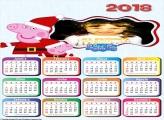 Calendário 2018 Natal Peppa Pig e George