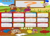 Calendário 2019 Galinha Pintadinha Completo
